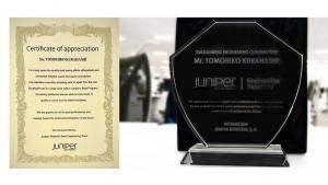 「IIJ、ジュニパーネットワークスの「トップ3 ベータコントリビュータ」に選出。加えてエンジニアの個人表彰も!」のイメージ