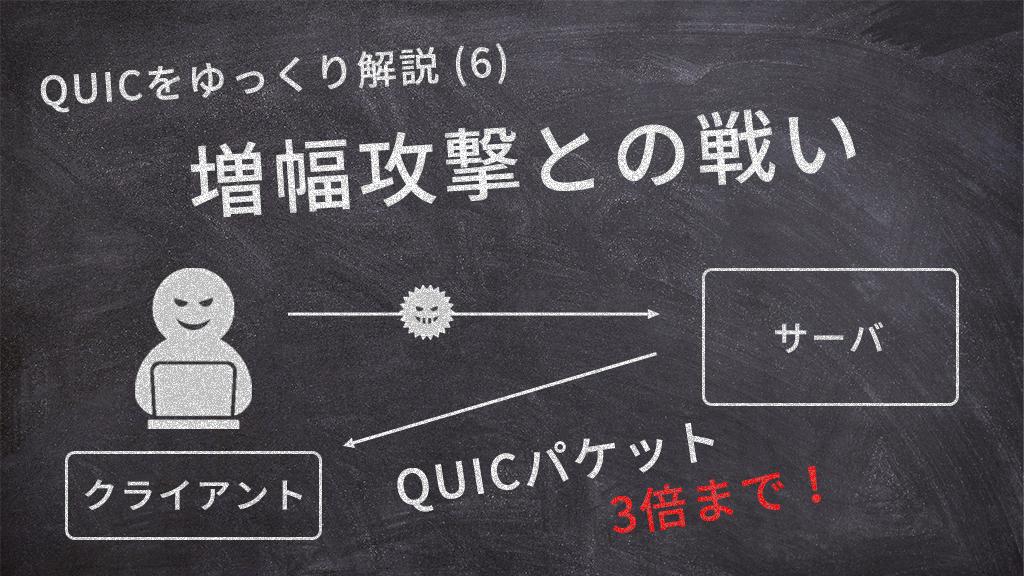 「QUICをゆっくり解説(6):増幅攻撃との戦い」のイメージ