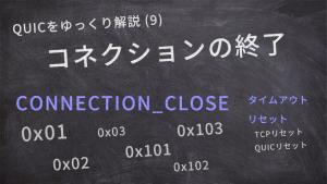 「QUICをゆっくり解説(9):コネクションの終了」のイメージ